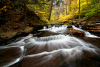 Triangle Falls - Ricketts Glen State Park - Waterfall